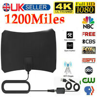 1200Miles Indoor HD Digital TV Antenna Aerial Signal Amplified 4K 1080P UK