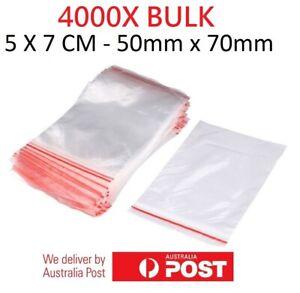 4000x Small Zip Lock Plastic Bags  Resealable Zipper New 5cmX7cm WHOLESALE BULK