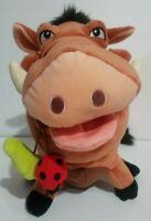 """Disney Parks The Lion King Plush Pumbaa Warthog Stuffed Animal Bugs Grubs 15"""""""