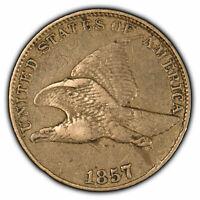 1857 1c Flying Eagle Small Cent - Original High-Grade Coin - SKU-X1097