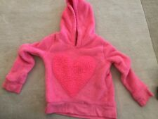 CIRCO PINK THICK FLEECE HOODIE PULLOVER JACKET HEART FRONT LONG SLEEVE SP (6-6X)