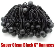 "(50) 6"" BLACK BALL BUNGEE Cord Tarp Bungee Tie Down Strap Bungi Canopy Straps"