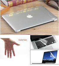 """Transparent Hard Case Shell/Keyboard Cover for Macbook Pro 13/15"""" Air 11/13""""Inch"""