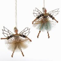 Katherine's Collection Set Of 2 Celestial Euro Fairy Ornaments