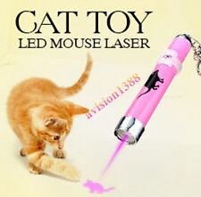 Pet Cat PlayToy Bright Mouse Animation LED Laser Pointer Light with Key Chain av