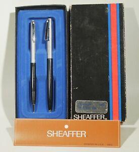 Sheaffer Triumph White Dot 440 BLACK  Pen & 0.9 Pencil Set New In Box USA