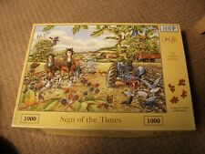 HOUSE OF PUZZLES JIGSAW - SIGN OF THE TIMES - 1000 PIECE - EXCELLENT CONDITION