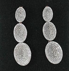 LINKS OF LONDON Diamond Essential VIP Concave RGV Drop Earrings NEW RRP2700