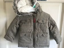 BNWOT Nutmeg Winter Coat. Hooded. Beige/ Brown. Boys. Age 0 - 24 Months