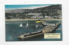 Vintage Linen Postcard Harbor Restaurant On The Pier Santa Barbara CA M1710