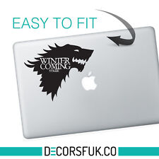 Game of Thrones Macbook Stickers black Stark | Laptop stickers | Macbook Decal