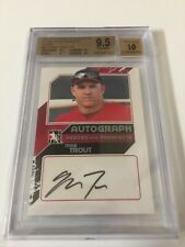 2011 ITG HEROES & PROS CLOSE UP SILVER MIKE TROUT AUTO BGS 9.5 10 In the Game