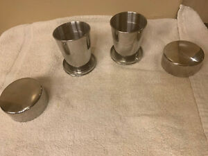 Keen Sport Stainless Steel Collapsible Cup - Lot Of 2. Never Used