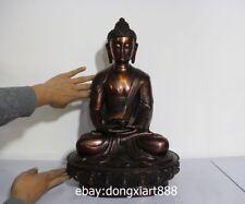 19 Chinese Bronze Lotus Shakyamuni Tathagata Sakyamuni Amitayus Buddha Statue