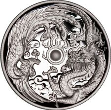 2017 ~ PERTH MINT ~1~OZ  SILVER ~ DRAGON & PHOENIX ~ HIGH RELIEF PROOF ~ $118.88