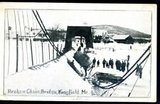 MAINE, KINGFIELD, BROKEN CHAIN BRIDGE, UNUSED, (743