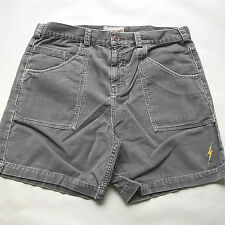 Lightning Bolt Men's Rory Corduroy Shorts Cool Grey Size 32 NEW