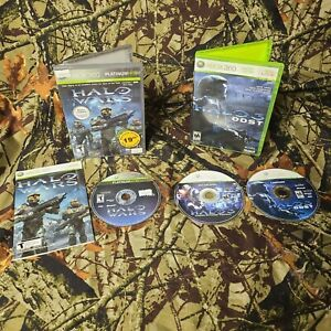 Halo Wars Xbox 360 Game Platinum Hits & Halo 3 ODST Bundle