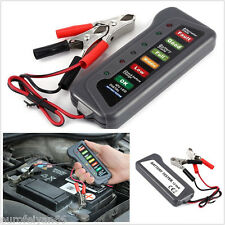 New 12V Car Off-Road  Battery Alternator Tester Kit With 6LED Lights Display Kit