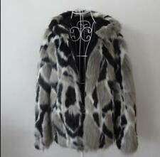 Mens Thick Hooded 2019 Leopard Parka S-6xl Hooded Fur Long Sleeve Coat Jacket