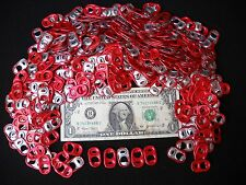 Bulk Lot of 500 Budweiser Beer Can Red Crown Pull Tabs - All Identical