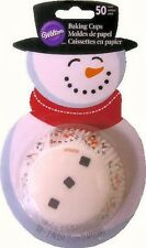 Snowman Christmas Standard Baking Cups 50 ct from Wilton #1926 - NEW