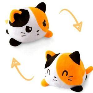 New Reversible Cat Gato Kids Plush Toy Double-Side Flip Reversible Squid Stuffed