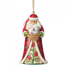 Heartwood Creek Santa with Cat Hanging Ornament by Jim Shore
