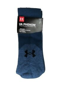 Under Armour 3 Pair UA Phenom Training Crew Socks Men's Size Large 8-12