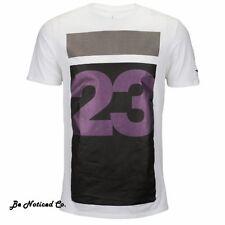 Nike Men's Jordan Aviator Basketball T-Shirt S White Black Multi Gym Casual New