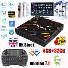 UK 4GB 32GB Android7.1 TV Box H96 Max H2 RK3328 Dual WIFI Quad Core+iPazzport i8