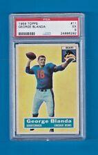 GEORGE BLANDA 1956 TOPPS FOOTBALL #11 PSA 5 EX Chicago Bears HOF *SET BREAK*