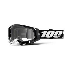 100 Percent Racecraft 2 Black Clear Lens Off-Road Moto MTB Adult Goggles