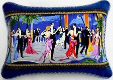 New listing Studio Flora Dora W/ Blue Velvet Designer accent Pillow W/ insert