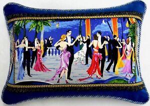 Studio Flora Dora W/ Blue Velvet Designer Pillow W/ insert