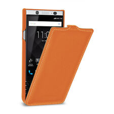 TETDED Premium Leather Hard-shell Case for BlackBerry KEYone Troyes LC Orange