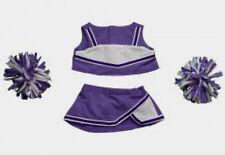 "Teddy Bear Purple & White Cheerleader Clothes Fit 14""-18"" Build-a-bear !New!"