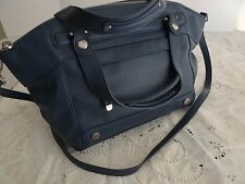 NWOT Relic Dark Denim Blue Large Convertible Satchel Crossbody Bag Det. Strap
