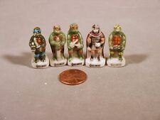 Teenage Mutant Ninga Turtles Feve French Mini Porcelain Figurines Free Shipping