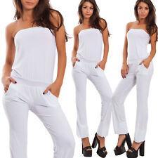 Overall donna tuta tutina bandeau aderente basic pantaloni estiva sexy LI-1555