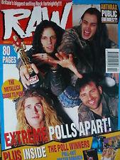 RAW MAGAZINE 88 - EXTREME - METALLICA - SOUNDGARDEN