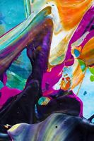 Abstract Colourful Modern Splash Paint Wall Art Large Poster & Canvas Pictures
