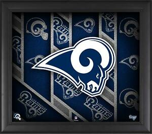"""Los Angeles Rams Framed 15"""" x 17"""" Team Threads Collage"""