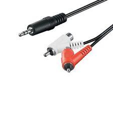 Cable de audio estereo 2x RCA macho a Jack 3.5 mm macho 1.5 M Negro