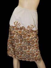 Vintage Half Slip Silk Paisley Appliqué Elizabeth Arden 1950S Small