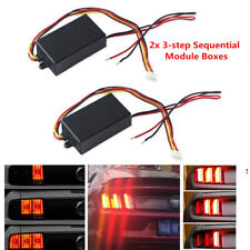 2Pcs 3-step Sequential Module Boxes Car Headlights/Rear lights Turn Signal DC12V