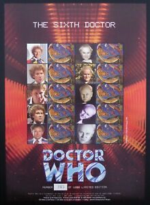GB SMILERS Sheet The 6th Dr Who Limited Edition 213/1000 BC045 DF816