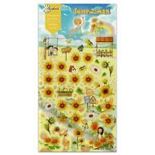 CUTE SUNFLOWER STICKERS Farm Flower Kawaii PVC Sticker Sheet Craft Scrapbook NEW