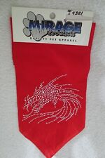 Mirage Pet Product Pet Apparel Bandana Red Dragon Design Rhinestones New