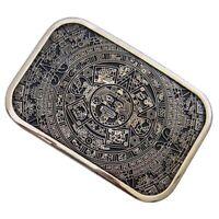 Fibbia della cintura da uomo Vintage Western Cowboy Pattern modello Azteca